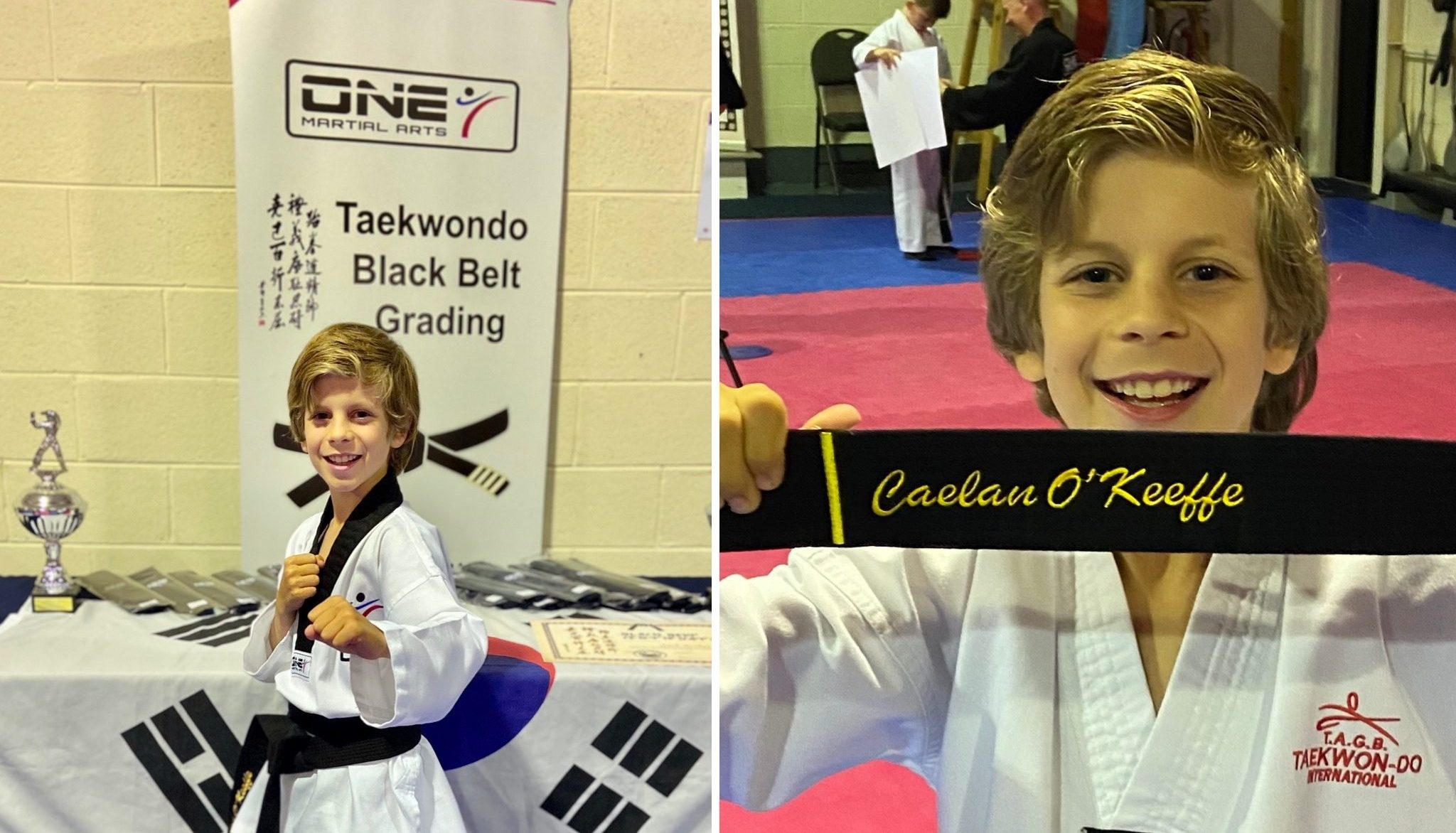 Caelan awarded Black Belt in Taekwando thumbnail image
