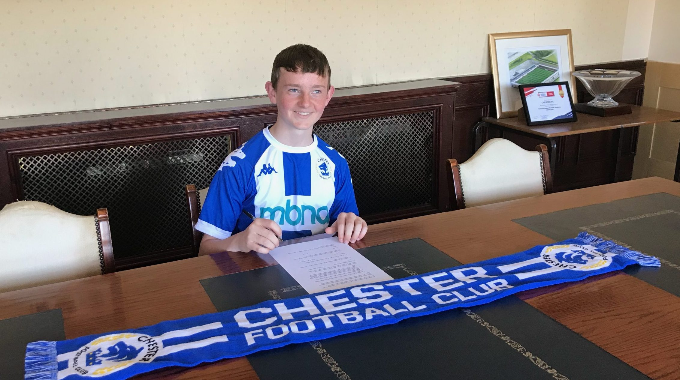Year 8 Pupil Ben Cutler Signs for Chester FC thumbnail image