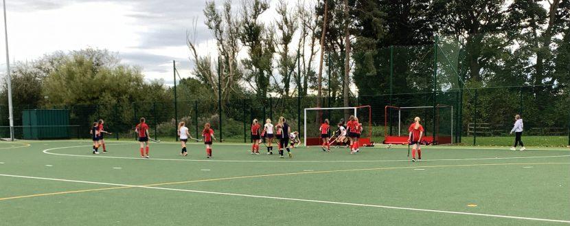 Abbey Gate College Senior Girls Hockey Team in action