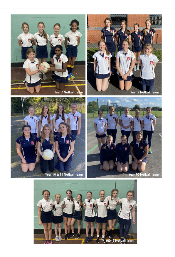 Abbey Gate College Netball Teams