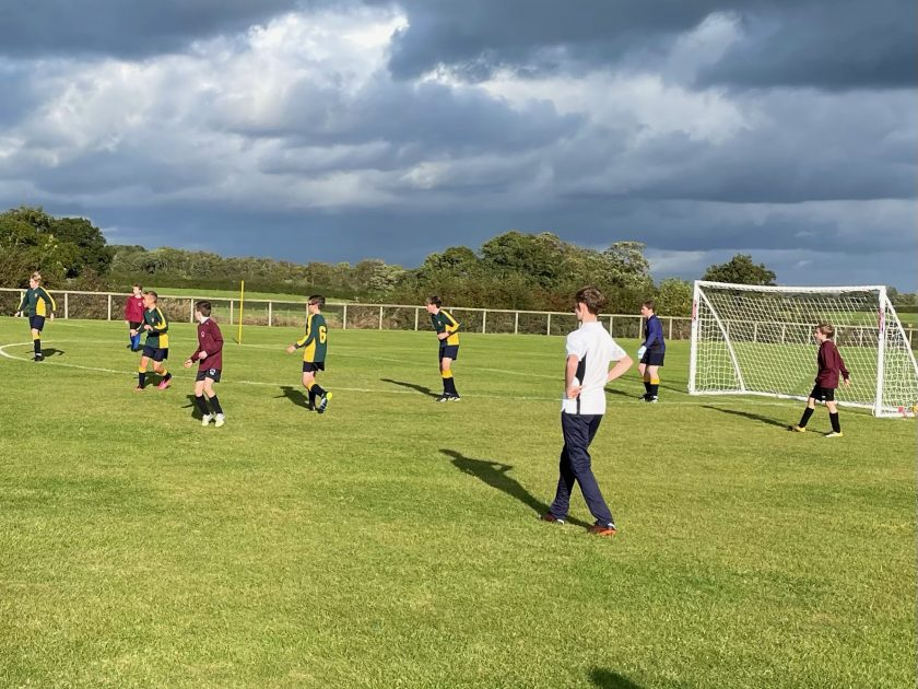 Players in the Abbey Gate College Year 7B Football Tournament - 5th October 2021